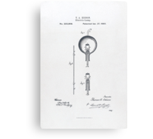 Edison Light Bulb patent 1880 Canvas Print