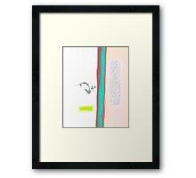 Boundaries of solitude Framed Print