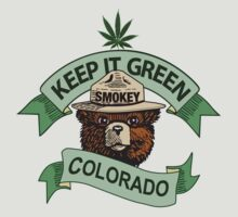 "Smokey Says ""Keep It Green Colorado"" by Bundjum"