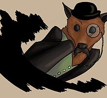 Gentleman Bat With Monocle by CatAstrophe