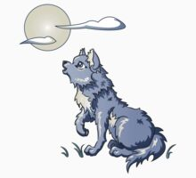 Wolf Howling at the Moon Kids Clothes