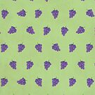 Cute Purple Grapes Picture Pattern by thejoyker1986