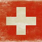 Post and Greeting Cards with Distressed Switzerland Flag by Geezon