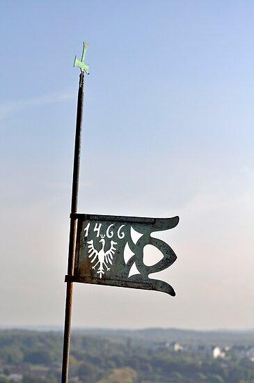 Medieval crowned eagle symbol. by FER737NG