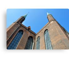Gothic basilica, Poland. Canvas Print