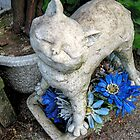 Happy Cat Statue by Jane Neill-Hancock