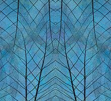Leaf Symmetry in Blue by Cora Niele