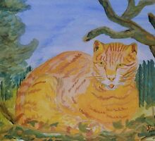 Lazy Ginger Cat by Paddyta2s