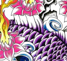 Purple Koi  Sticker