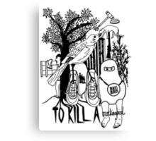 To Kill a Mockingbird (black and white) Canvas Print