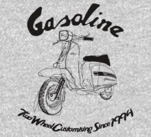GASOLINE LAMBRETTA CUSTOM LINE ART DRAWING FOR GP200 by GASOLINE DESIGN