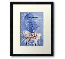 ☀ ツCHILDREN BIRTHDAY CARD/PICTURE WITH SCRIPTURE☀ ツ Framed Print