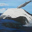 whale in the sea by cathyjacobs