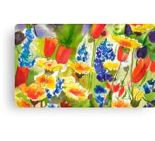 Lupine and California Poppies Canvas Print