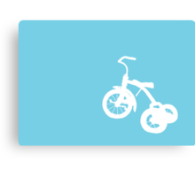 White Trike on Blue Canvas Print
