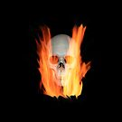 skull on fire by nadil