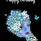 Happy Birthday Card - Mother Nature Art by LeahG by LeahG Artist