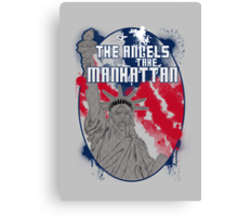 the angels take Manhattan Canvas Print
