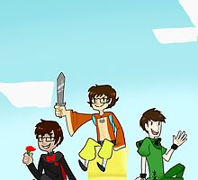 Team Lads (Achievement Hunter Minecraft) by EllaMRed