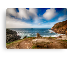 Seat with a view Cot Valley Cornwall Canvas Print