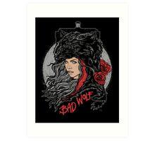 Bad Wolf-Black Art Print
