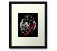 Bad Wolf-Black Framed Print