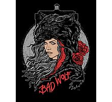 Bad Wolf-Black Photographic Print