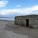 Pillbox on the beach by Sue Gurney