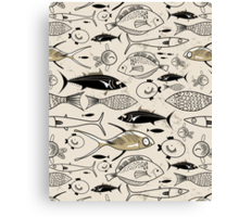 graphic fish Canvas Print