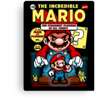 Incredible Mario Canvas Print