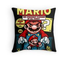 Incredible Mario Throw Pillow