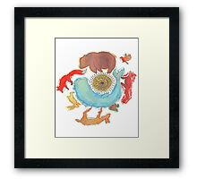 Circularity Framed Print