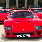 The Ferrari F40 Lineup by Gareth Spiller