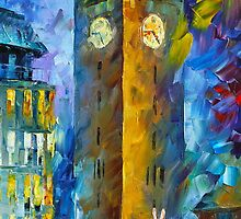 My Little Rabbit - Oil painting on Canvas By Leonid Afremov by Leonid  Afremov
