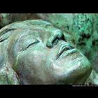 Planting Fields Arboretum State Historic Park Statue Face Detail - Upper Brookville, New York by © Sophie Smith