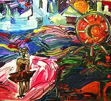 STAR POEM - acrylic, tempera, paper 18 x 24'' by irishrainbeau