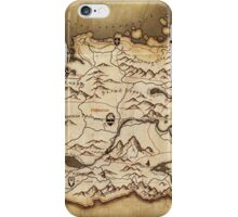 Skyrim Map  iPhone Case/Skin