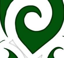 Swirly Hawaiian Green Sea Turtle Sticker