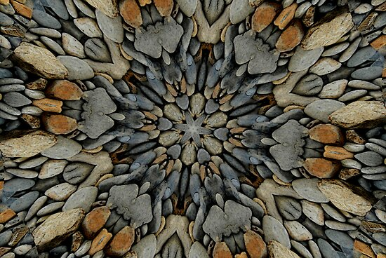 River Rock Fractal by Tori Snow