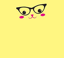 CUTE KAWAII kitty with glasses by jazzydevil
