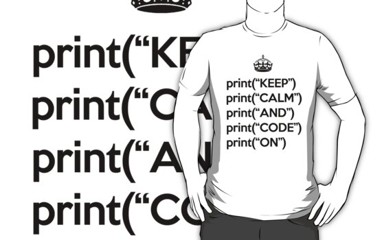 Keep Calm And Code On - Python - Black by VladTeppi