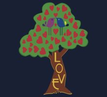 °•Ƹ̵̡Ӝ̵̨̄Ʒ♥Romantic Lovebirds Kissing on a Love-Tree Clothing & Stickers♥Ƹ̵̡Ӝ̵̨̄Ʒ•° by Fantabulous