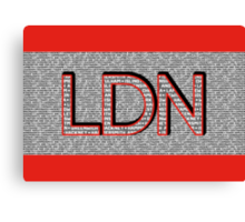 London Boroughs LDN Canvas Print