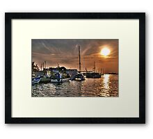 Fiery Sky Over the Lagoon - Grado - Italy Framed Print