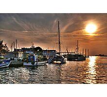 Fiery Sky Over the Lagoon - Grado - Italy Photographic Print