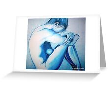 Caught up in Blue Greeting Card