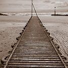 Wooden Slipway at Rhos on Sea by mlphoto