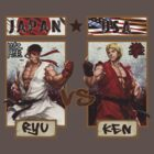 Street Fighter - Ryu vs Ken by DGomez227