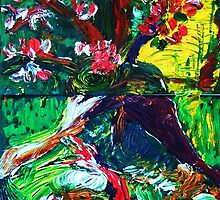 EVA - oil, paper 22 x 56'' by irishrainbeau