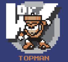 Top Man with Orange Text by Funkymunkey